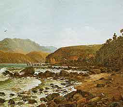 "detail, Wm Menzies Gibb, ""Low Tide, Governor's Bay"" 1893, Ak City Art Gallery"