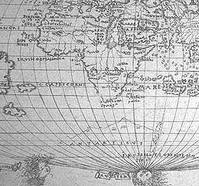 detail, Roselli world map, 1508
