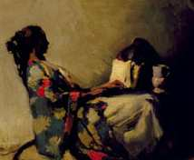 "Maud Sherwood, ""Reading"", 1921, Ak Art Gallery"